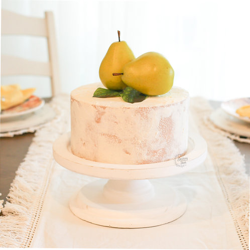 Faux Pear Cake for Display