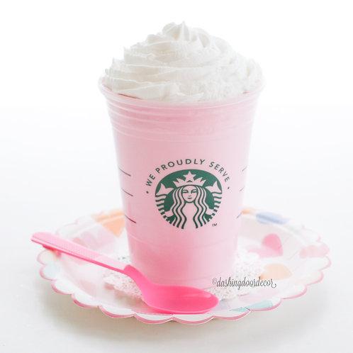Faux Strawberries & Cream Frappuccino Coffee