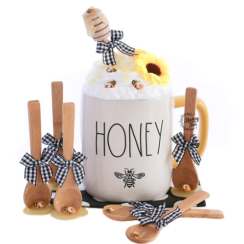 My Cozy Cap™ Honey Bee Faux Whip Mug Topper fits Rae Dunn Mugs