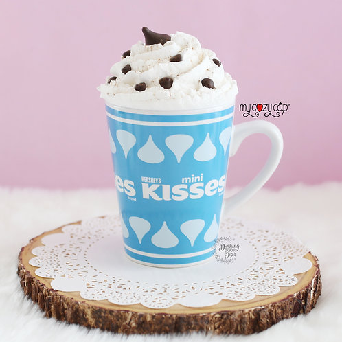 Hershey Latte/Coffee Mug w/Coordinating My Cozy Cap™ Faux Whip Mug Topper