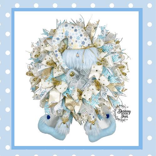 Christmas Snowflake Elf Hat & Legs Front Door Wreath #130