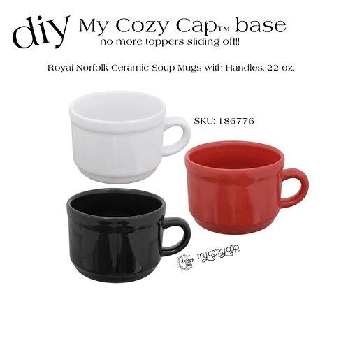 DIY My Cozy Cap™ Base fits Dollar Tree Royal Norfolk Soup Mugs (SKU: 186776)