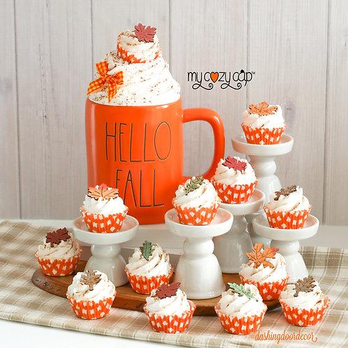 Faux Fall Mini Cupcakes for Display