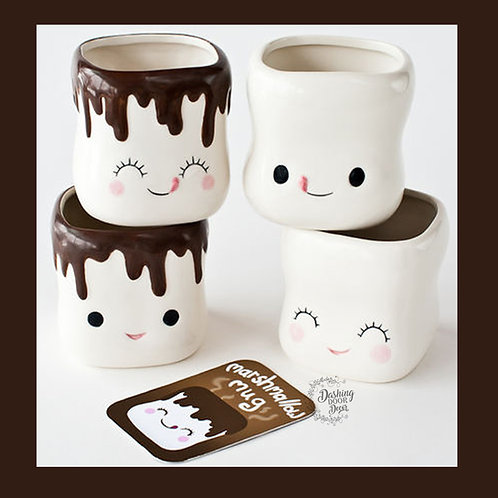 Marshmallow Mugs set of 4 - Authentic One Hundred 80 degrees