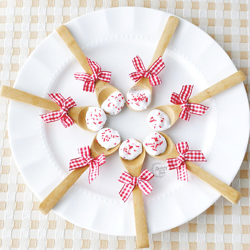 Fake Crushed Peppermint Holiday Spoons  for Decor/Display