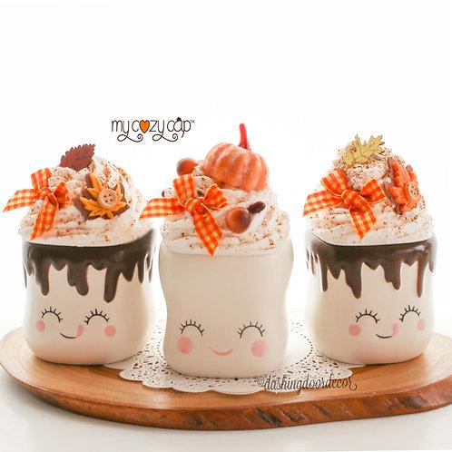 My Cozy Cap™ FallFaux Whip Mug Topper Fits Marshmallow Mugs