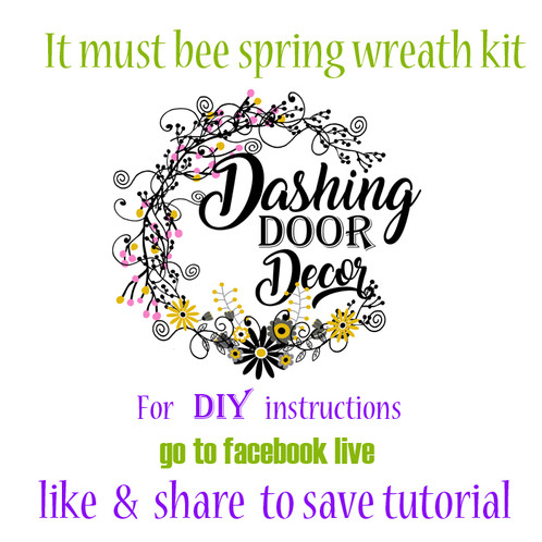 Facebook live it must bee spring wreath kit diy dashingdoordecor 2 3 18 facebook live it must bee spring wreath kit diy do it yourself kit solutioingenieria Choice Image