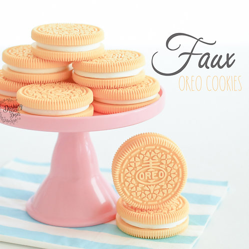 Faux Yellow Oreo Cookies for Display