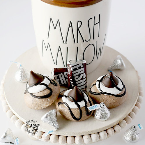 Fake S'mores Thumbprint Cookies for Decor/ Display