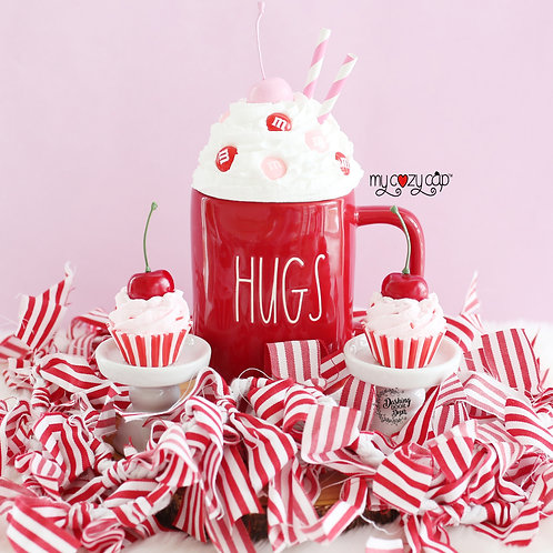 My Cozy Cap™ M & M Candies Faux Whip Mug Topper fits Rae Dunn Mugs