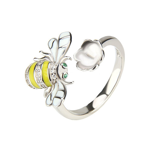 Bumble Bee Wrap Ring ADJUSTABLE