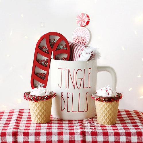 Fake Christmas Ice Cream Cups for Display