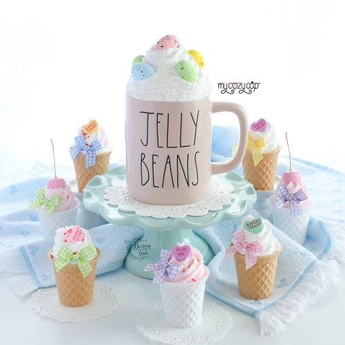 My Cozy Cap™  Easter Eggs Faux Whip Mug Topper Fits Rae Dunn Mug