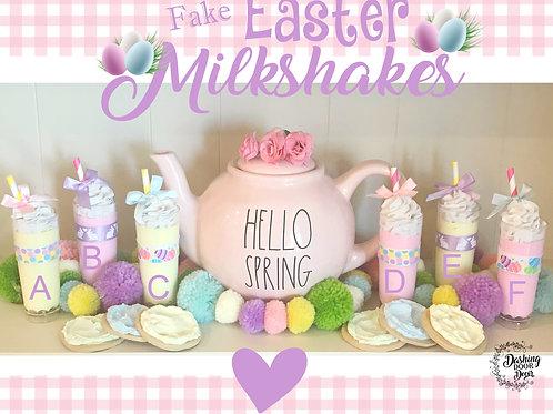 Fake Food Easter Milkshake w/ Whipped Cream