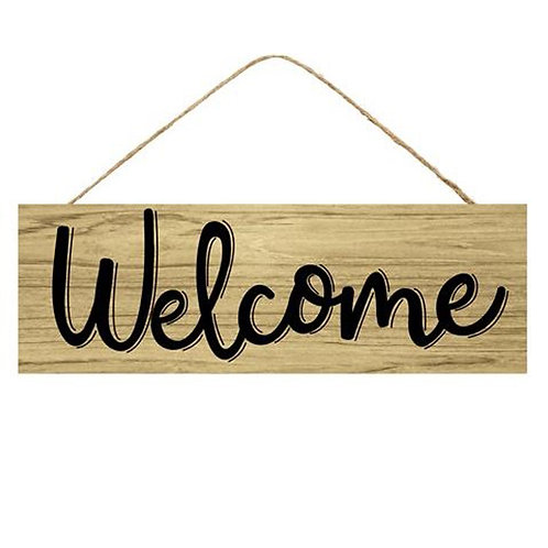 """15"""" Wooden Sign: Welcome Natural"""