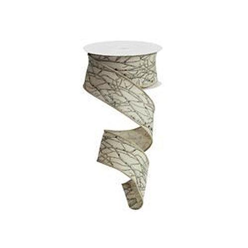 "1.5"" Birch Branch: Lt. Natural/Grey/Brown/Black (10 Yards)"