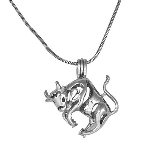 Taurus Zodiac Pearl Pendant
