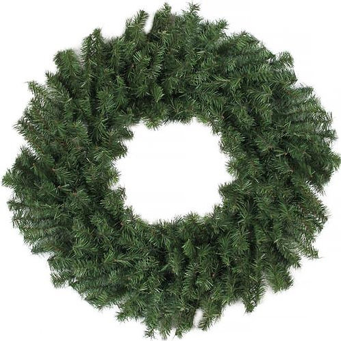 "24"" CANADIAN PINE WREATH DOUBLE RING, 220 TIPS"