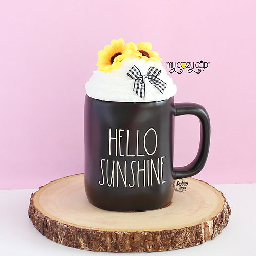 My Cozy Cap™ Sunflower Faux Whip Mug Topper Fits Rae Dunn Mug