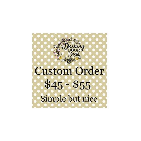 Custom Order Deco Mesh Wreath #001