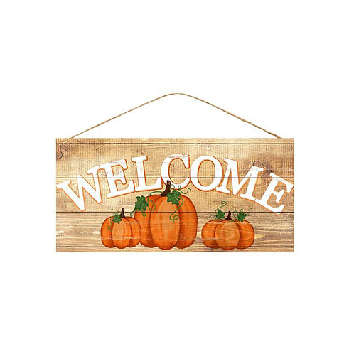 Welcome with Pumpkins Sign