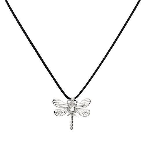 "18"" Black Leather Cord Pendant Necklace- Adjustable"