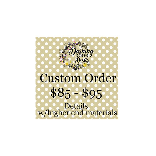 Custom Order Deco Mesh Wreath #003