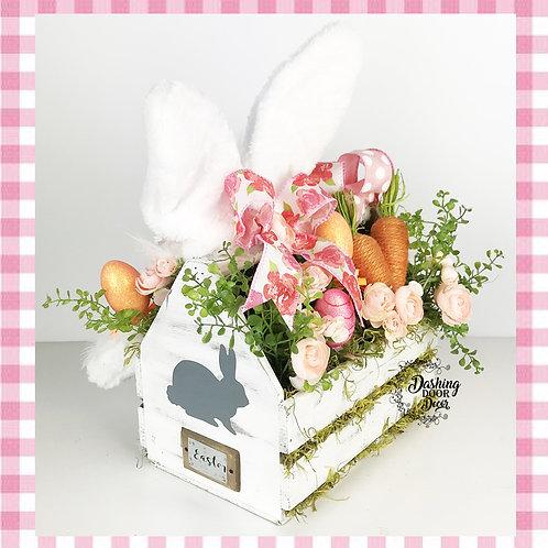 Happy Easter Bunny Tabletop Centerpiece Arrangement