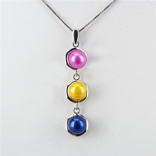 Trio Pearl Drop Sterling Silver Pendant (pearl setting required)