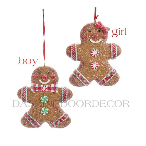 Gingerbread Cookie Boy or Girl Ornament