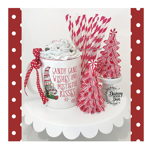 Fake Food Hot Cocoa Candy Cane Wishes Mug