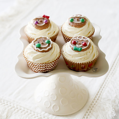 Faux Gingerbread Cookie Christmas Cupcakes for Display