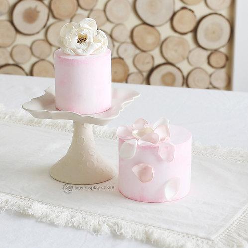 Faux PinkFarmhousePeek a Boo Naked Cakes for Display