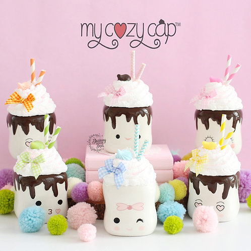 My Cozy Cap™ Easter Faux Whip Mug Topper for Marshmallow Mugs