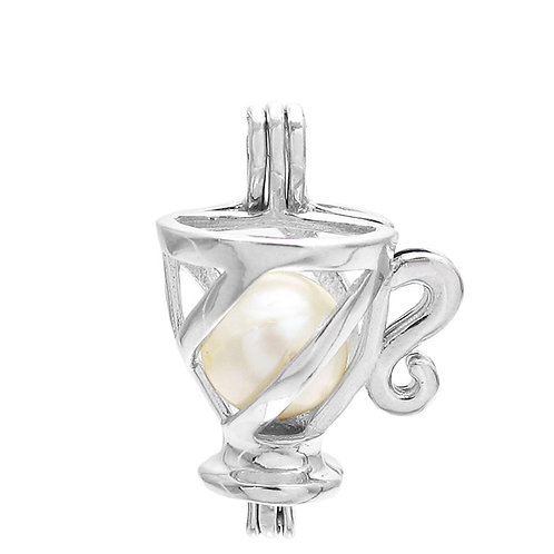 Teacup/Coffee Cup Pearl Pendant