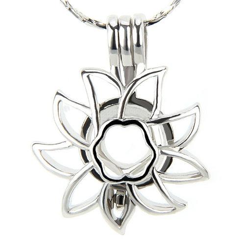 Sunflower Pearl Pendant