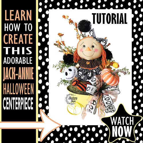 DIY Tutorial - Jack-Annie Halloween Centerpiece