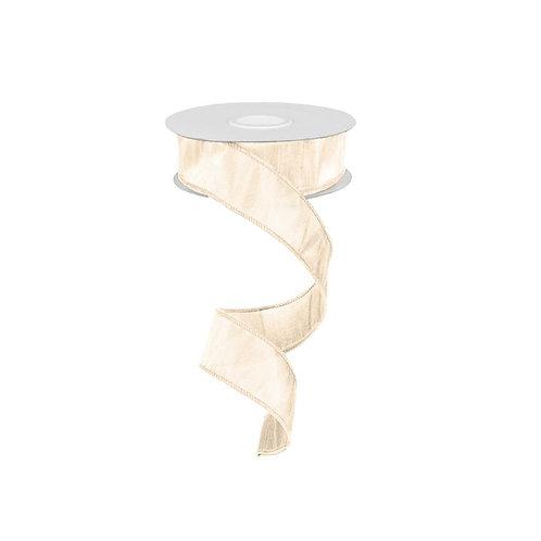 """1.5"""" Faux Dupioni Ribbon: Ivory (10 Yards)"""