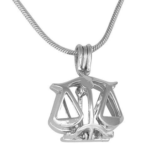 Libra Zodiac Pearl Pendant