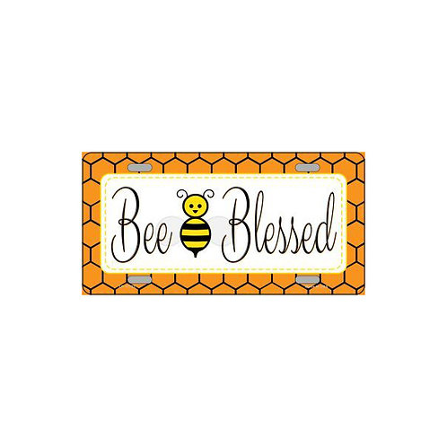 Bee Blessed Metal Sign