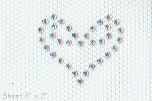 Swarovski Crystal Tattoo Scroll Heart (pack of 5)