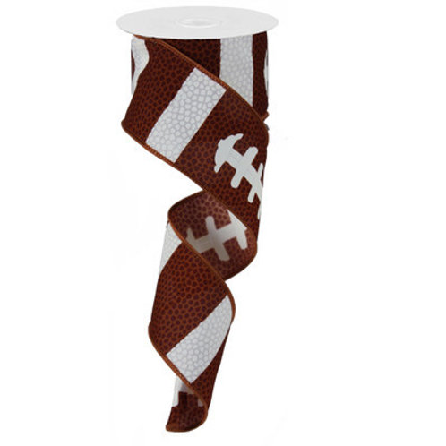 "2.5"" Football Laces: Brown/White (10 Yards)"