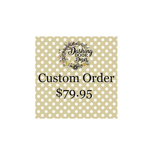 Custom Order Deco Mesh Wreath #155