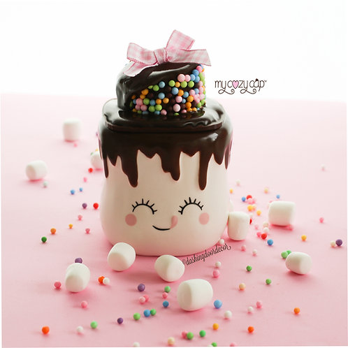 My Cozy Cap™  Melted Chocolate Faux Whip Mug Topper Fits Marshmallow Mugs
