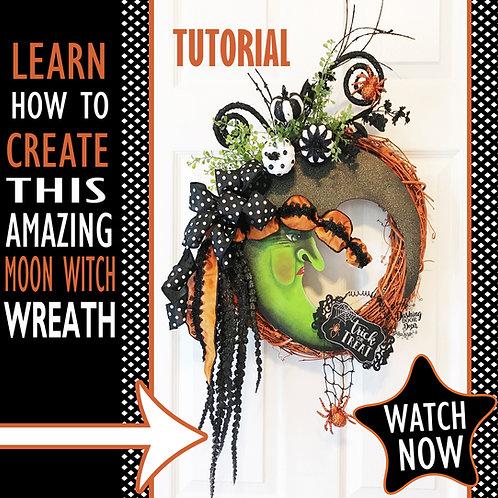 DIY Tutorial - Halloween Witch Grapevine Wreath