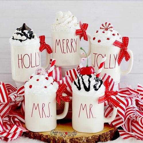 DIY Blank My Cozy Cap™ Fits Rae Dunn Christmas Ornament Mugs