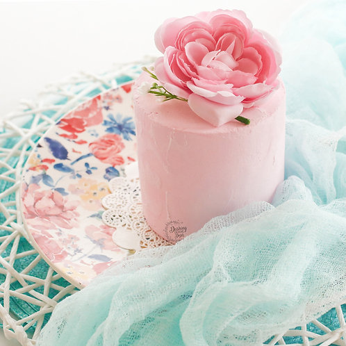 Faux Pink Rustic Naked Cake Base