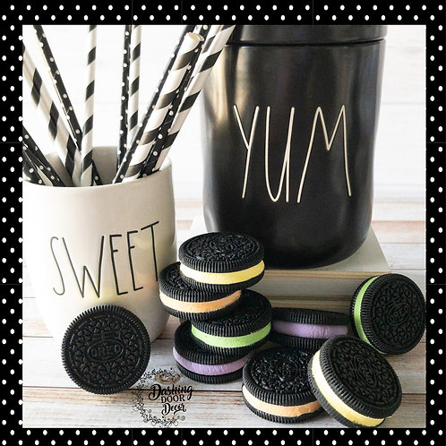 Fake Halloween Oreo Cookies for Display