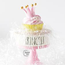 Retired Design: Fake Princess Crown Cupcake
