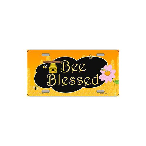 Bee Blessed Honey Metal Sign